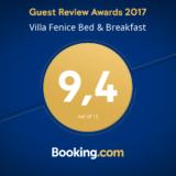 certificato di eccellenza booking.com villa fenice vieste
