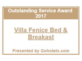 outstanding service award gohotels villa fenice vieste